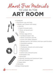 Running the Art Room on a Minimal Budget