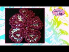 How to make #Crochet Geek #Flower Tutorial #CrochetGeek - YouTube