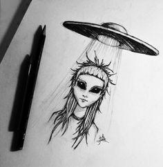 alien, alternative, amazing, art, awesome, black, black and white, cool, dark, die antwoord, drawing, grunge, indie, pale, sad