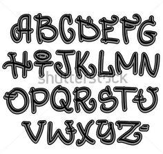 Graffiti Písmo Hip Hop Dopisy vektor z knihovny - VectorHQ.com