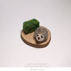 Tiny Grey Hedgehog Set Made To Order Miniature by ChronoSalpGalaxy, $12.00
