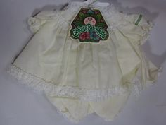 Vintage Cabbage Patch Doll Baby Girl Yellow Lace Outfit with hanger #CabbagePatchKids #ClothingAccessories