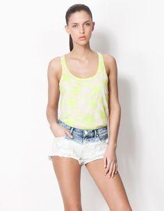 Bershka Colombia - Top BSK detalle encaje Basic Tank Top, Tank Tops, Clothes, Women, Fashion, Lace, Outfits, Moda, Halter Tops