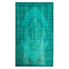Bring eye-catching appeal to your den or define areas in the living room with this overdyed rug, showcasing a Persian-inspired motif in turquoise.   Product: RugConstruction Material: 100% PolyamideColor: TurquoiseFeatures: Made in Turkey Note: Please be aware that actual colors may vary from those shown on your screen. Accent rugs may also not show the entire pattern that the corresponding area rugs have.Cleaning and Care: Spot treat with mild detergent and water. Professional cleaning is…
