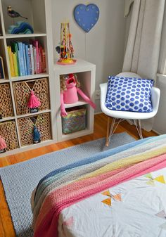 bright creative girls room