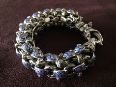 Handmade Sterling Silver and enamel bracelet by #bowmanoriginals #handmadejewelry #enameljewelry