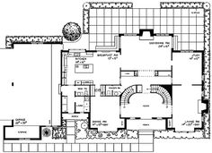 Plan 81120W: Tudor Manor With Grand Double Staircase