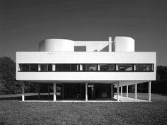 Villa Savoye, Le Corbusier and Pierre Jeanneret, Poissy, France, restored Pierre Jeanneret, Le Corbusier, Architecture Student, Modern Architecture, Architecture Sketchbook, Building Architecture, Architectural Digest, Poissy France, Villa Savoye