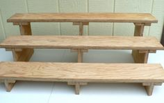 Items similar to Wooden Break Apart Craft Fair Shelving - 3 tier Unit on Etsy