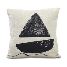 Lonely boat kuddfodral från Fine Little Day Sofa Pillows, Throw Pillows, Printed Cushions, Scandinavian Home, Crafts To Do, Home Textile, Modern Rustic, Light In The Dark, Rustic Decor