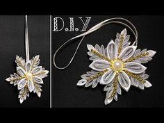 ☃❄☃ D.I.Y. Kanzashi Snowflake | MyInDulzens ☃❄☃ - YouTube