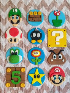 Only place your orders if they are needed after June Fondant edible Paw Patrol cake cupcake topper set paw patrol shields Super Mario Cupcakes, Super Mario Party, Bolo Do Mario, Bolo Super Mario, Super Mario World, Super Mario Bros, Cupcakes Fondant, Wilton Fondant, Satin Ice Fondant