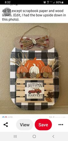 Fall Wood Crafts, Thanksgiving Crafts, Crafts To Do, Holiday Crafts, Halloween Crafts, Dollar Tree Fall, Dollar Tree Decor, Dollar Tree Crafts, Fall Swags