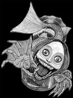 Kaiki Kanzume - Junji Ito drew a mermaid *dead*