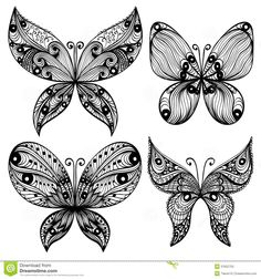 http://www.dreamstime.com/stock-photos-set-four-black-butterfly-silhouettes-hand-drawn-over-white-background-image37652753