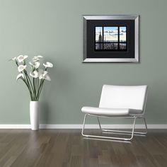 Philippe Hugonnard 'Window View Manhattan' Matted Framed Art