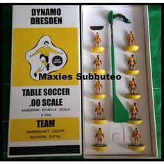 Dynamo Dresden (GER) Football Soccer Tabletop Team Maxies (Subbuteo Zeugo)