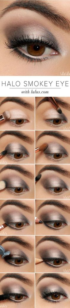 11 Simple Step By Step Make Up Tutorials For Beginners // # Beginner . 11 Simple Step By Step Make Up Tutorials For Beginners // (Diy Maquillaje) Make Up Tutorials, Eyeshadow Tutorial For Beginners, Beginners Eye Makeup, Eyeshadow Tutorials, Eyeshadow Ideas, Eyeshadow Styles, Contouring For Beginners, Make Up Tricks, Smokey Eyeshadow