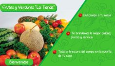 """Pieza grafica de Frutas y Verduras """"La Tienda"""" en donde se detecto oportunidad de estrategia digital."""