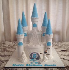 Pinterest Frozen castle cake | Frozen Castle (60 serves) $260
