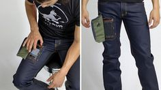 Wow.  See through pocket for your phone.  On the not-so-007 tip. :/