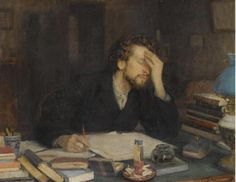 19th century painting of Revising Writer Wishing He'd Never Started This Bloody Thing. #pluscachange pic.twitter.com/2WnFoErwUr