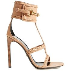 Women's Gucci 'Ursula' Braided Sandal ($970) ❤ liked on Polyvore featuring shoes, sandals, heels, gucci, woven shoes, ankle cuff heel sandals, gucci sandals and woven sandals