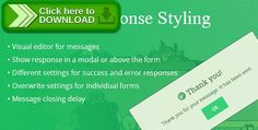 [ThemeForest]Free nulled download CF7 Response Styling from http://zippyfile.download/f.php?id=40182 Tags: ecommerce, cf7, contact form, contact form 7, Contact Form7, feedback, modal, popup, response