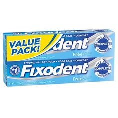 Fixodent Complete Free Denture Adhesive Cream 2 ea - Pack of 2 >>> You can get additional details at the image link.