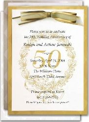 Wording for 50th wedding anniversary invitations the wedding anniversary party invitations golden anniversary party wedding anniversary invitations to celebrate the golden wedding honorably stopboris Image collections