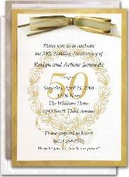 50th anniversary invitation wording samples | Festive 50th ...