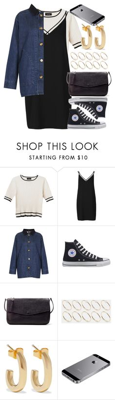 """Untitled #6279"" by rachellouisewilliamson ❤ liked on Polyvore featuring Monki, Topshop, Converse, Zara, ASOS and Jennifer Fisher"