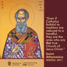 May 2: Memorial of St. Athanasius, a great defender of our faith #feastday #catholic