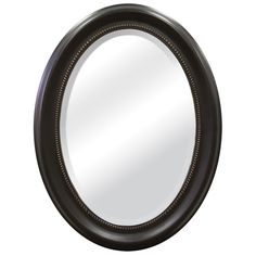 This oval mirror has a timeless look that appeals to both contemporary and classic settings. With a bronze frame and detailed molding, it will look both sophisticated and elegant hanging on any wall of your home.