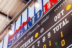 STANDIN Baseball Store by design office Dress, Fukuoka – Japan » Retail Design Blog Baseball Shop, Baseball Park, Visual Merchandising, Fukuoka Japan, Innovation Lab, City Select, Branding, Office Dresses, Design Furniture