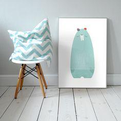 Mr Bobber. Plakat dla dzieci. pokój dziecka | bóbr | ilustracja | nursery poster | scandinavian style | beaver | animal | baby | illustration | baby room