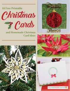 18 Free Printable Christmas Cards and Homemade Christmas Card Ideas   Believe it or not, Christmas will be here before you know it. Start your DIY cards today!
