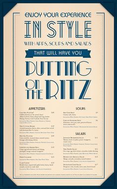 Chive Sea Bar & Lounge Menu by Liz Smith, via Behance