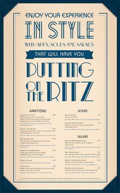 Chive Sea Bar & Lounge Menu by Liz Smith, via Behance