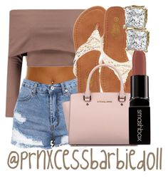 """""""Madison Beer Outfit (Requested)"""" by prnxcessbarbiedolll ❤ liked on Polyvore featuring Charles Albert, Michael Kors and Smashbox"""