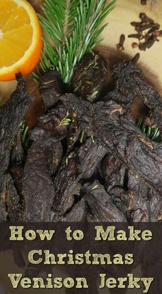 Our Christmas Venison Jerky recipe is perfect for the festive period with its marinade of spices, orange and pine needles. That said, it still tastes just as delicious whatever the time of year. Venison Jerky Recipe, Jerky Recipes, Snack Recipes, Healthy Recipes, Venison Recipes, Roast Chicken And Gravy, Pot Roast, Healthy Snacks To Make, Healthy Food