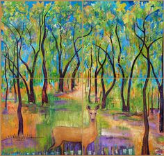 Our Enchanted Bosque - Tree Art, a print -available on Etsy - $25