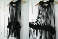 Created from a T-shirt DIY-fashion-pocahontas-fringe-top (webecoist)