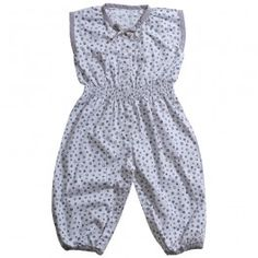 Blueberry summersuit, Organic - SS14 - Girls Okker-Gokker