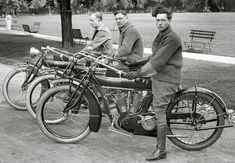 Vintage 1912 Indian motorcycles. This was back when Indian had the fastest bikes and dominated the industry.