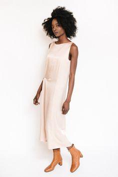 Achro Drape Midi Dress