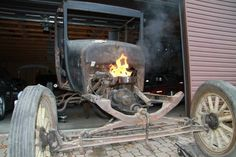 UnSeizing engine with fire, and reversing front spring blog.