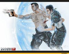 Игры,фэндомы,Mass Effect,ME art,Kaidan,James Vega
