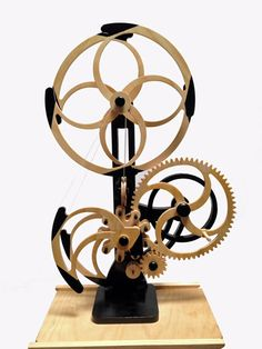 Woodworking Plans by Clayton Boyer, the Whirly Kinetic Sculpture