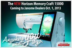 Janome's Newest:  MC15000